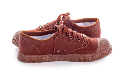 Brown student shoes