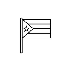 Puerto Rico icon. Element of flag icon for mobile concept and web apps. Thin line Puerto Rico icon can be used for web and mobile