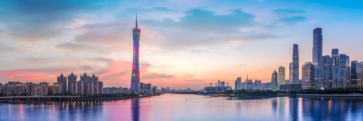 Skyline of urban architectural landscape in Guangzhou..