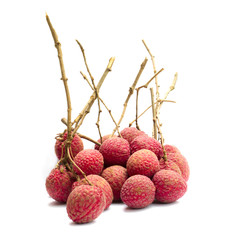 Lychee Chakrapad on a white background, Fruit in Thailand