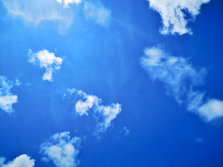 Blue sky with cloud nature background.