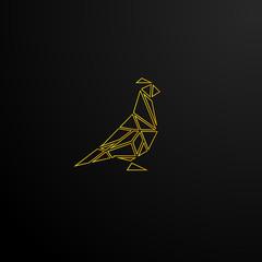 mosaic bird logo icon