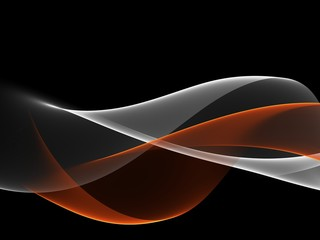 Abstract Orange And White Wave Design