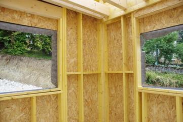 construction en ossature bois  Fotobehang