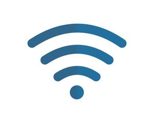 blue wifi image vector icon logo symbol