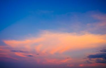 beautiful sky evening atmosphere sunset