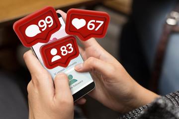 street girl social media notifications