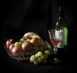 Fruit bowl & Wine