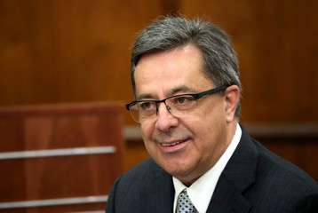 Steinhoff's former Chief Executive Markus Jooste appears in parliament to face a panel investigating an accounting scandal that rocked the retailer in Cape Town
