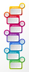 Concept of business infographic template. Vector.