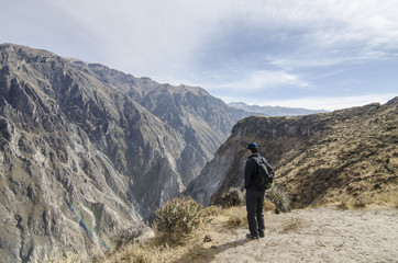 Enjoying the view of the Colca Canyon
