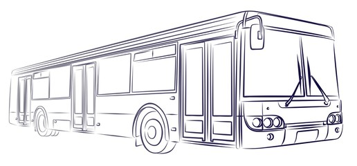 Sketch of big bus.