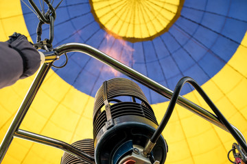 Low angle of  fire while fuel in a hot air balloon