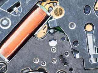 circuit board in quartz movement in watch
