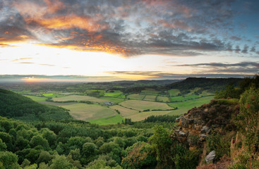 September Sunset - Vale of Mowbray - Sutton Bank