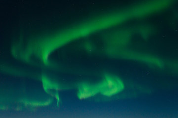 Aurora, Northern lights in the winter in the sky.
