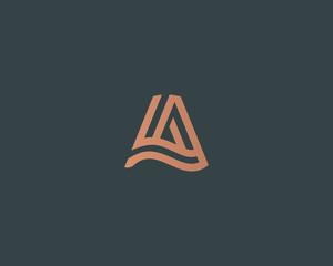 Letter A vector line logo design. Creative minimalism logotype icon symbol.