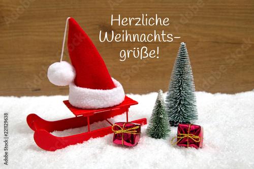 Standard Weihnachtsgrüße.Weihnachtskarte Herzliche Weihnachtsgrüße Stock Photo And Royalty