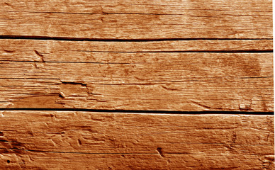 Old wooden wall in orange tone.