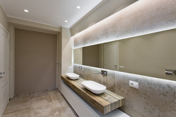 Modern bathroom with double sink