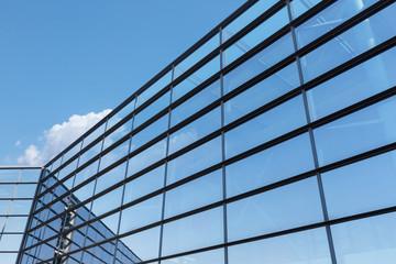 Photo sur Aluminium Batiment Urbain reflection glass curtain wall