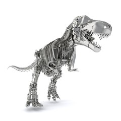 3D illustration of robot dinosaur
