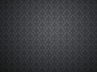 Black damask pattern wallpaper