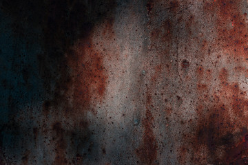 mysterious dark metal texture with rust and patterns