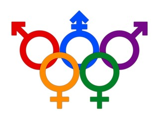 Concept olympic games flag LBGT color circle symbol rings
