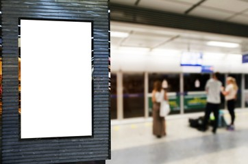 blank advertising billboard or showcase light box with copy space for your text message or media...