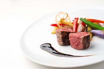 Photo sur Aluminium Plat cuisine ステーキ