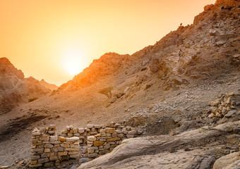 Ancient village ruins