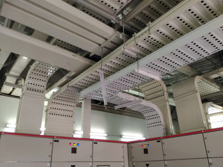 cable tray in electrical room