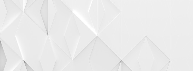 Wide White Futuristic Background (3d illustration)