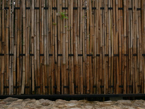 bamboo wall background,vintage wood