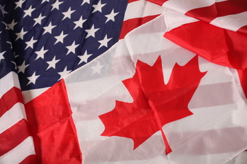 american and canadian flag