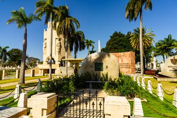 Santiago de Cuba, Cuba - 2018. Fidel Castro's ashes have been laid to rest in the Cuban Santa Ifigenia Cemetery in Santiago de Cuba.