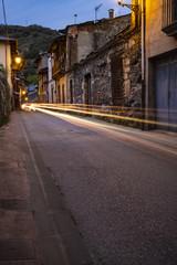 Gasse in Villafranca del Bierzo bei Nacht, Villafranca liegt auf dem Jakobsweg