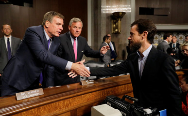 Senate Intelligence Committee chairs thank Twitter CEO Dorsey for his testimony on Capitol Hill in Washington