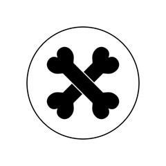 Bone icon in circle, logo on white background