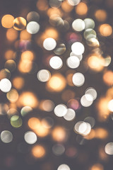 Retro bokeh lights on a dark background
