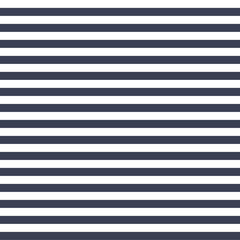 Seamless vector simple stripe pattern with navy and white horizontal parallel stripes background texture.