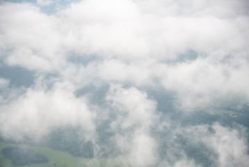 White cumulus cloud formation
