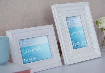 Two Photo Frames Mockup