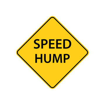 USA traffic road signs. vertical deflection in the road designed to limit the speed of traffic. vector illustration