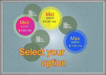Select your option banner Vector illustration