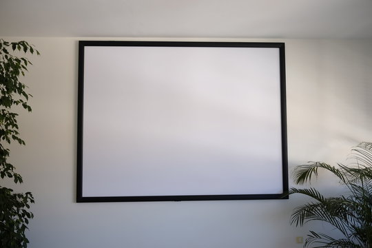 screen for video projector in the meeting room