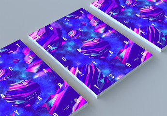Poster Layout with Abstract Planet Elements
