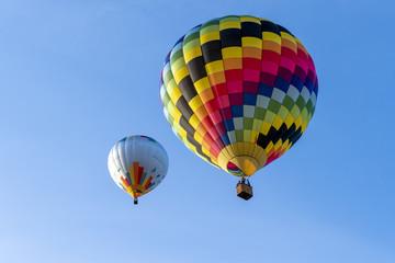 Happy hot air ballooning