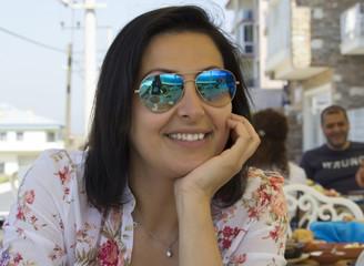 Beautiful Woman Portrait in Sirince Village,Turkey